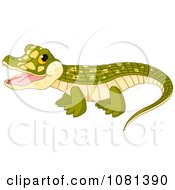 Poster, Art Print Of Cute Happy Baby Crocodile