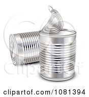 Clipart 3d Aluminum Food Cans Royalty Free Vector Illustration