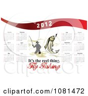Clipart 2012 Fly Fishing Calendar 1 Royalty Free Vector Illustration