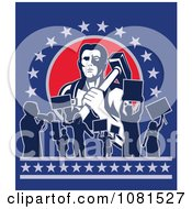 Clipart Blacksmith And Protestors Occupying Wall Street Royalty Free Vector Illustration by patrimonio