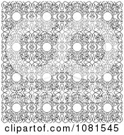 Seamless Black And White Background Pattern Design 1