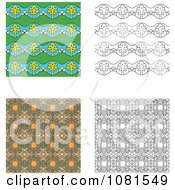 Set Of Seamless Pattern Background Designs 1