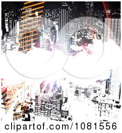 Clipart City Urban Grunge Background With Tracks And Bright Light Royalty Free Illustration