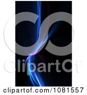 Clipart Blue Neon Fractal Swoosh On Black Royalty Free Illustration