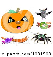 Halloween Jackolantern And Design Elements