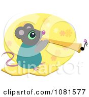Musical Mouse Playing A Horn