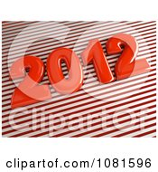 3d 2012 On Red And White Diagonal Stripes
