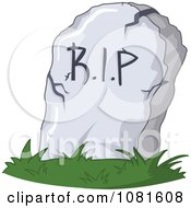 Clipart RIP Stone Grave Marker Royalty Free Vector Illustration