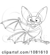 Outlined Presenting Vampire Bat