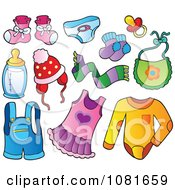Clipart Baby Apparel And Items Royalty Free Vector Illustration