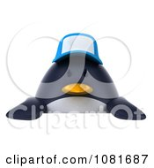 Clipart 3d Chubby Penguin With A Sign Board 1 Royalty Free CGI Illustration