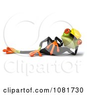 Clipart 3d Contractor Springer Frog Reclined Royalty Free CGI Illustration