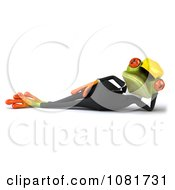 Clipart 3d Contractor Springer Frog Relaxing Royalty Free CGI Illustration