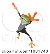 Clipart 3d Contractor Springer Frog Wearing A Hardhat And Dancing 4 Royalty Free CGI Illustration