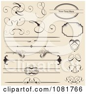 Clipart Set Of Vintage Swirl And Floral Rules Borders And Frames Royalty Free Vector Illustration