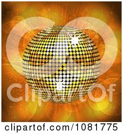 Clipart 3d Golden Disco Ball Over Lights Royalty Free Vector Illustration