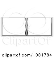 Clipart Open 3d Spiral Notebook Over Gray Royalty Free Illustration