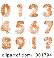 Clipart Gingerbread Number Design Elements Royalty Free Vector Illustration