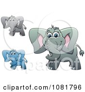 Clipart Cute Elephants Royalty Free Vector Illustration by Vector Tradition SM