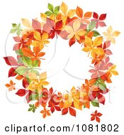 Clipart Beautiful Autumn Wreath Made Of Colorful Leaves 1 Royalty Free Vector Illustration by Vector Tradition SM