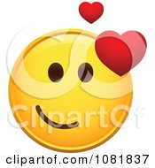 Clipart Yellow Smiley Emoticon Face With A Loving Expression Royalty Free Vector Illustration by beboy