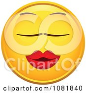 Clipart Yellow Smiley Emoticon Face With Puckered Lips Royalty Free Vector Illustration
