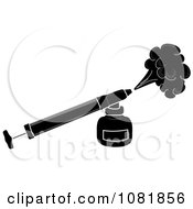 Clipart Black And White Bug Insecticide Sprayer Royalty Free Vector Illustration