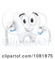 Clipart 3d Tooth Flossing Itself Royalty Free CGI Illustration by BNP Design Studio