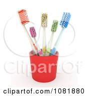 Clipart 3d Blue Toothbrush Royalty Free CGI Illustration
