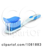 Clipart 3d Tooth Brush With Paste Royalty Free CGI Illustration