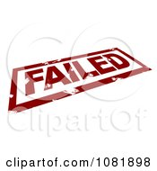 Clipart 3d Red Failed Stamp Royalty Free CGI Illustration