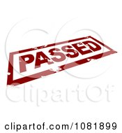 Clipart 3d Red Passed Stamp Royalty Free CGI Illustration