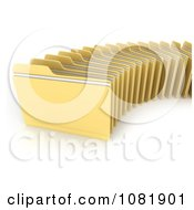 Clipart Row Of 3d Office Filing Folders Royalty Free CGI Illustration