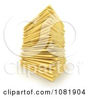 Clipart Stack Of 3d Office Filing Folders Royalty Free CGI Illustration