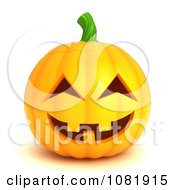 Clipart 3d Halloween Jackolantern Royalty Free CGI Illustration