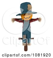 Clipart 3d Scarecrow With A Jackolantern Face Royalty Free CGI Illustration by BNP Design Studio