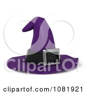 Clipart 3d Purple Witch Hat Royalty Free CGI Illustration