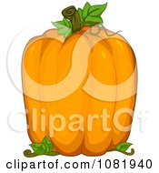 Clipart Oversized Pumpkin Royalty Free Vector Illustration