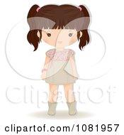 Clipart Brunette Girl Royalty Free Vector Illustration
