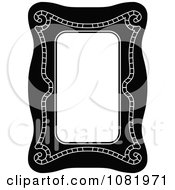 Clipart Black And White Frame Border With Copyspace 18 Royalty Free Vector Illustration by Frisko