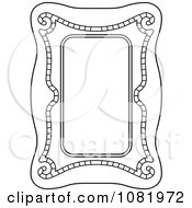 Clipart Black And White Frame Border With Copyspace 17 Royalty Free Vector Illustration by Frisko