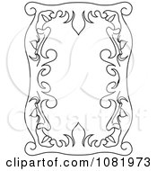 Clipart Black And White Frame Border With Copyspace 5 Royalty Free Vector Illustration by Frisko