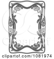 Clipart Black And White Frame Border With Copyspace 6 Royalty Free Vector Illustration by Frisko