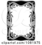 Clipart Black And White Frame Border With Copyspace 7 Royalty Free Vector Illustration by Frisko