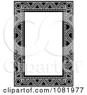 Clipart Black And White Frame Border With Copyspace 9 Royalty Free Vector Illustration by Frisko