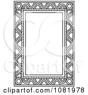 Clipart Black And White Frame Border With Copyspace 10 Royalty Free Vector Illustration by Frisko