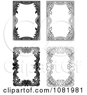 Clipart Four Black And White Frame Borders With Copyspace 4 Royalty Free Vector Illustration by Frisko