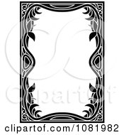 Clipart Black And White Frame Border With Copyspace 13 Royalty Free Vector Illustration by Frisko