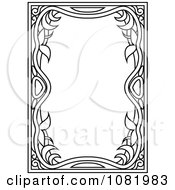 Clipart Black And White Frame Border With Copyspace 14 Royalty Free Vector Illustration
