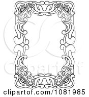 Clipart Black And White Frame Border With Copyspace 16 Royalty Free Vector Illustration by Frisko